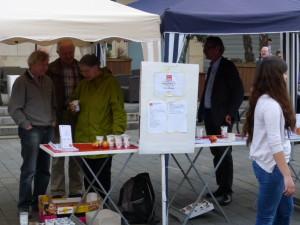 Info-Stand der ASG auf dem SPD-Aktionstag 2014